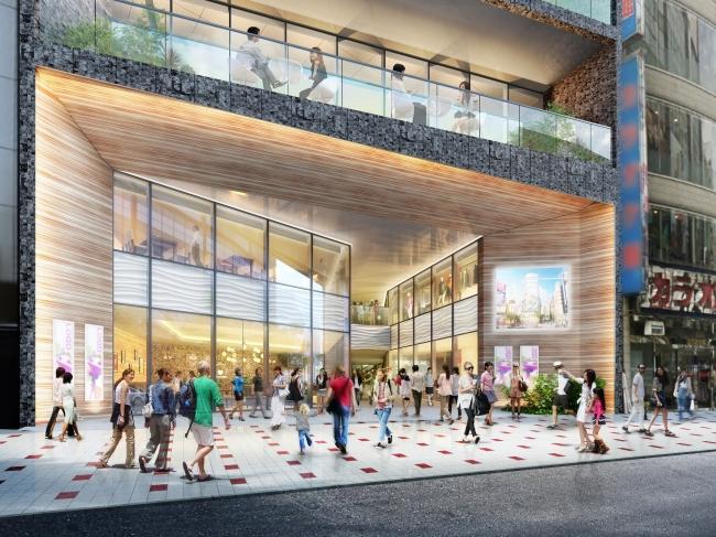 「(仮称)渋谷区道玄坂二丁目開発計画」の低層部