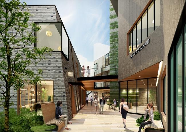 「(仮称)渋谷区道玄坂二丁目開発計画」の周辺の完成イメージ