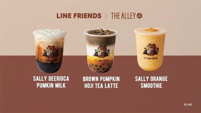 「ジ アレイ × LINEフレンズ コラボドリンク」の全種類の写真