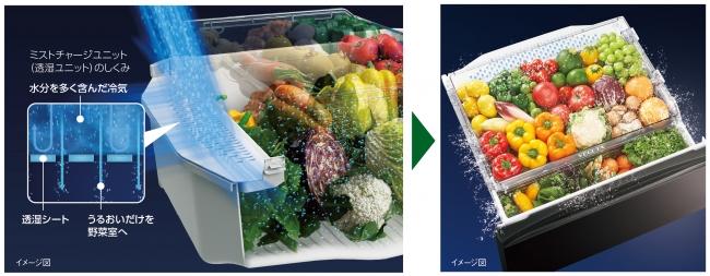 「GR-M470GW」の野菜室