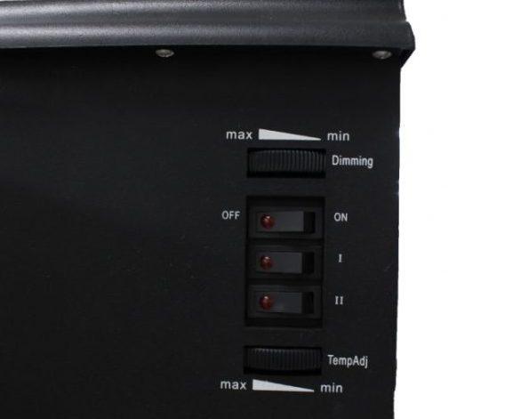 「暖炉型ファンヒーター(HF-2008)」の操作パネル