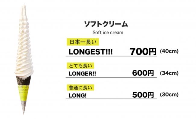 『LONG! LONGER!! LONGEST!!!』のソフトクリーム