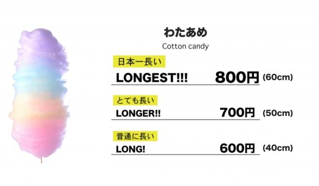 『LONG! LONGER!! LONGEST!!!』のわたあめ