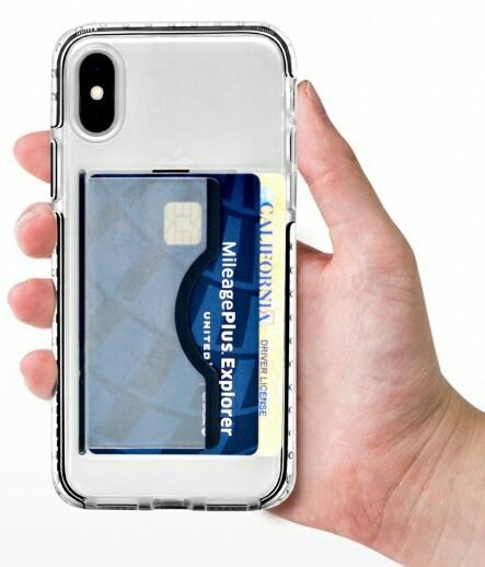 「Artifit Ultra Hybrid iPhone Case」にカードを収納したときのイメージ
