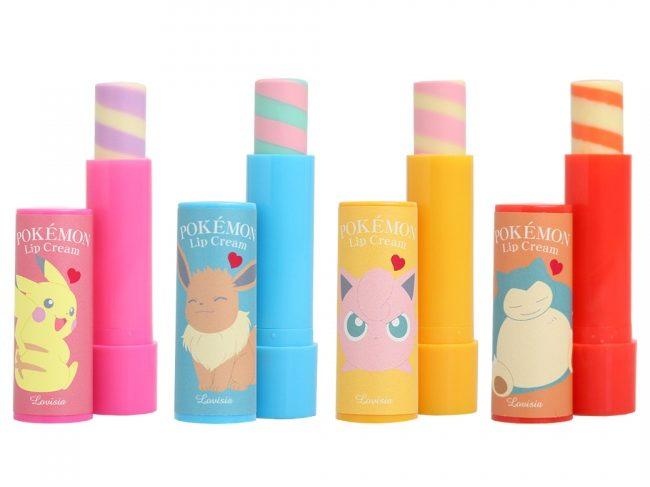 パステルカラーが特徴の「ポケモンリップクリーム」が超かわいい!