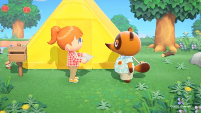 Nintendo Switch「あつまれ どうぶつの森」のたぬきち