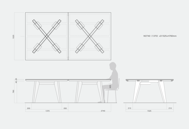 「T4 OFFICE」のサイズ(図面)