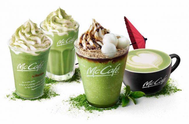 マクドナルド、「黒蜜きなこ抹茶フラッペ」などの抹茶シリーズを期間限定発売