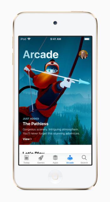 「iPod touch(第7世代)」のスクリーンイメージ