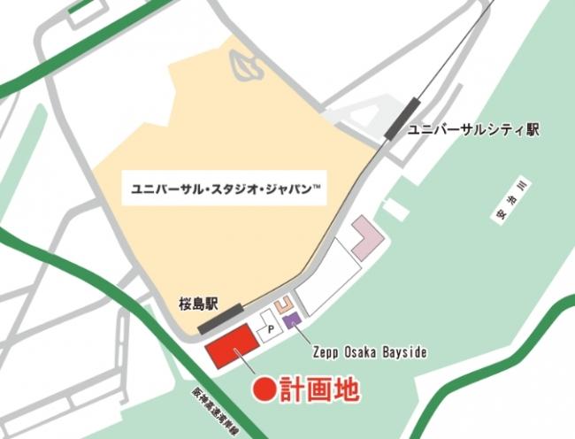 武蔵野が運営する予定のホテルの場所