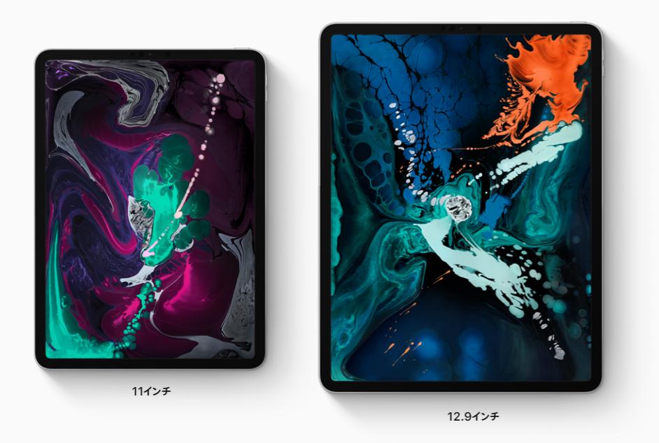 新型iPad Proのディスプレイサイズ