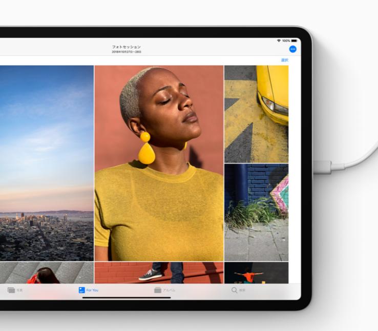 新型iPad ProのUSB-C端子