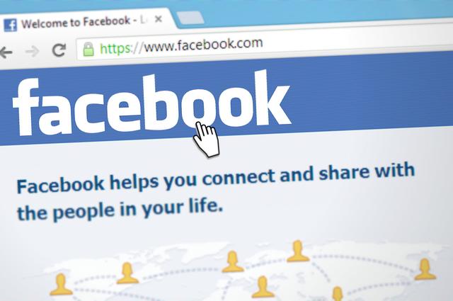 FacebookのTOP画面