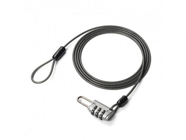 荷物を手軽にロックできるワイヤー一体型南京錠「200-SL056」が新発売!