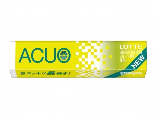 ガム「ACUO」に初のフルーツミント「クリアシトラスミント」が登場!