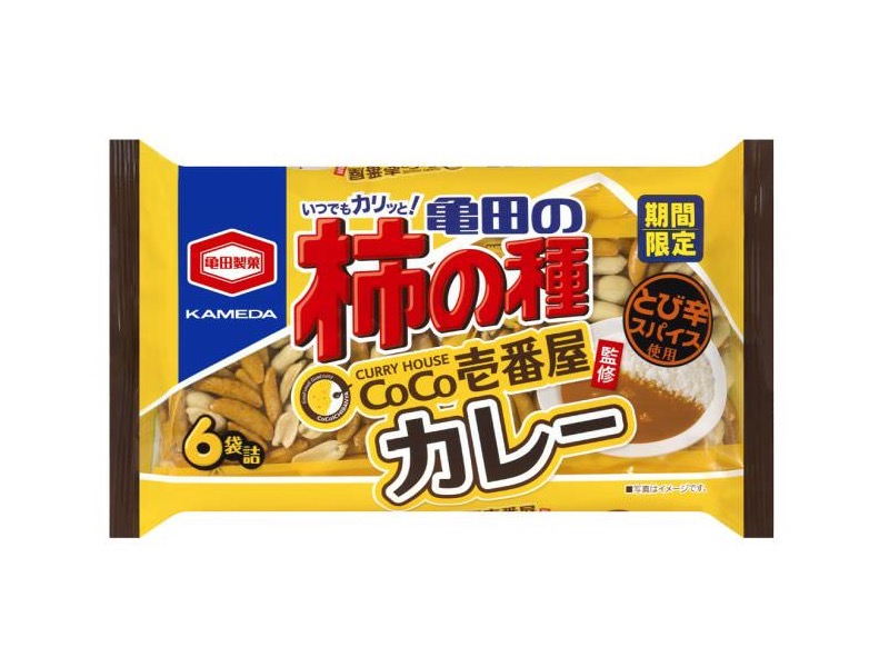 「亀田の柿の種 CoCo壱番屋監修カレー6袋詰」