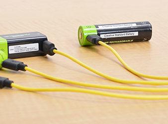 「USB充電できる乾電池」