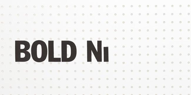 「BOLD NI(ボールド ニー)」のロゴ