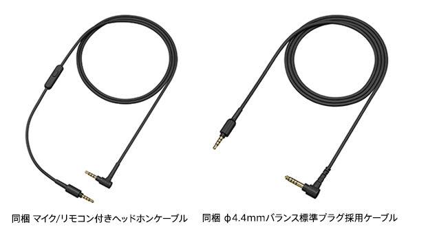 付属のφ4.4mmバランス標準プラグ
